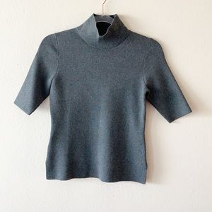 Ann Taylor Mock Neck Short Sleeve Sweater